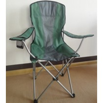 Green Shaded Gray Folding Chair