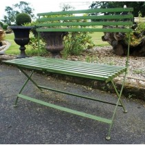 Green Simple Design Handmade Iron Garden Bench