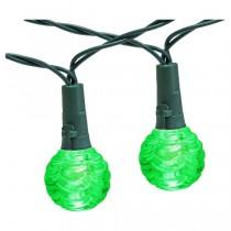 Green Solar Globe LED String Lights Set