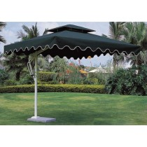 Green Square Side-pole Aluminum Umbrella