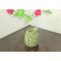 Green Teapot Shape  Ceramic Oil Burner