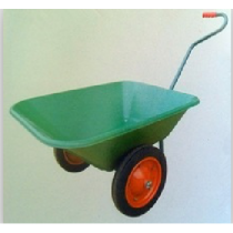 Green  Wheel barrow with 2 Wheels