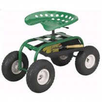Green Wheel barrow with 4  Wheels
