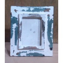 Green & Whitewashed  Wooden Photo Frame