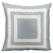 Grey 20 Inch Square Shape Polyester Cushion