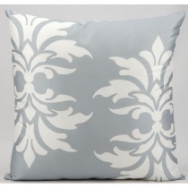 Grey Double Damask Pattern Cushion