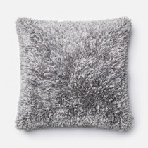 Grey Handmade Polyester Square Cushion