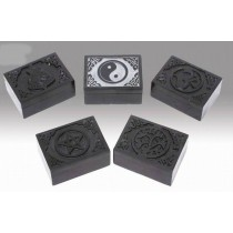 Grey Pentagram Blk Incense Burner