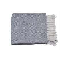 Grey with Fringes Throw