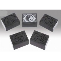 Grey Ying-Yang Blk Incense Burner