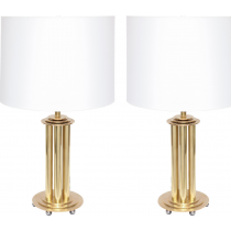 Hammered Brass Polish Table Lamp
