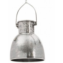 Hammered Modern Nickel Dome Pendant Lamp
