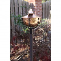 Hand-crafted Copper Garden Torch