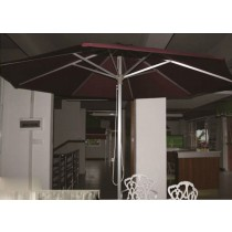 Hand-pulled string Aluminum Brushed Small Umbrella