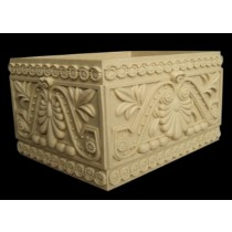 Hand Carved Beautiful Floral Design Square Flowerpot