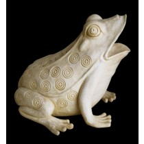 Hand Carved Swirl Designer Frog Water Fountain