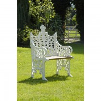 Hand Cast Aluminium Single Seat Garden Bench