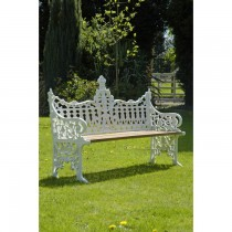 Hand Cast Aluminium Three Seater Garden Bench