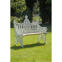 Hand Cast Aluminium Two Seater Garden Bench