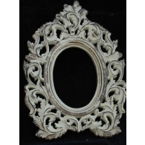 Hand Curved Shabby Chic Wooden Photo Frame