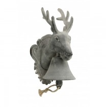 Hand Made Cast Iron Stag Garden Bell