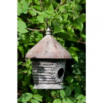 Hand Made Iron Rustic Finish Hanging Bird House