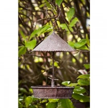 Hand made Rustic Finish Hanging Bird Feeder