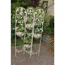 Hand Made Scroll And Leaf Design Planter Stand