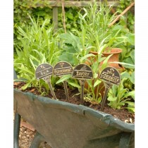 Hand Made Solid Brass Herb Garden Tag
