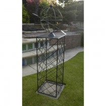 Hand Made Wrought Iron Globe Obelisk
