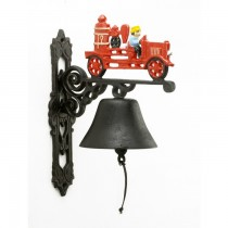 Hand Painted Red Fire Engine Garden Bell