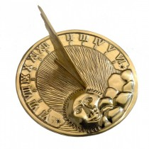 Hand Polished Brass Garden Sundial