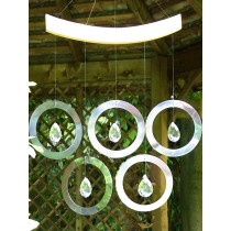 Handcrafted Olympian Rings Crystal Hanging Weathervanes