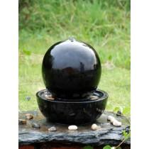 Handmade Black Ceramic Led Water Fountain