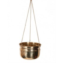 Handmade Brass Hanging Basket