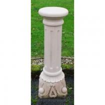 Handmade Carved Sandstone Sundial Column