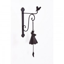Handmade Satin Black Finish Cast Iron Garden Bell