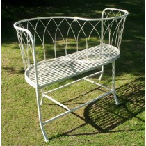Handmade Wrought Iron Two Seater Garden Bench