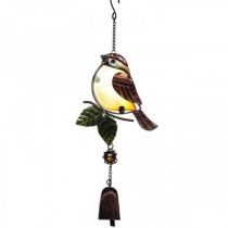 Hanging Bird Design Metal Garden Bell