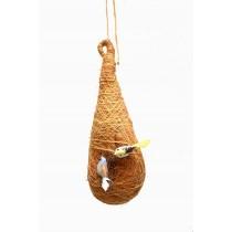 Hanging Bird nest With 2 Birds