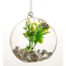 Hanging Glass Ball  Planter-Small