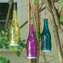 Hanging Glass Bottle LED Light Set