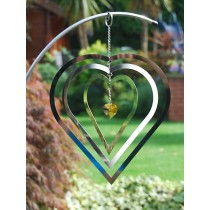 Hanging Heart Shaped Crystal Weathervanes