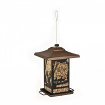 Hanging Lantern Shape Plastic Bird Feeder