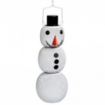 Hanging Metal Snowman Bird Feeder