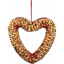Hanging Peanut Wreath Heart Shaped Bird Feeder