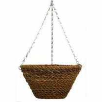 Hanging Rope Bucket Planter with Chain