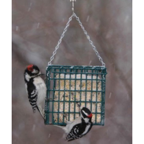 Hanging Single Suet Cake Holder Bird Feeder