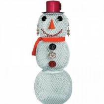 Hanging Snow Woman Bird Feeder