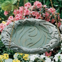Hanging Whitehall Bird Bath With Butterfly Design